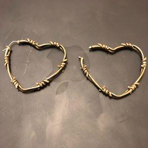 da8d3ede542ed7 Souvenir Jewelry Jewelry - Large Barbed Wire Hoop Earrings Souvenir Jewelry
